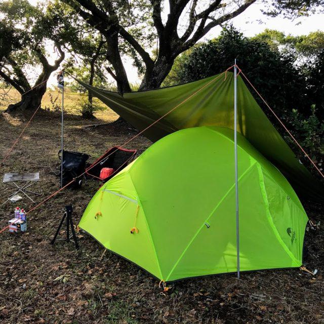 テントとキャンプ道具