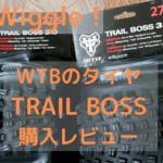 マウンテンバイクのタイヤ交換、WTBのトレイルボスをwiggleで購入